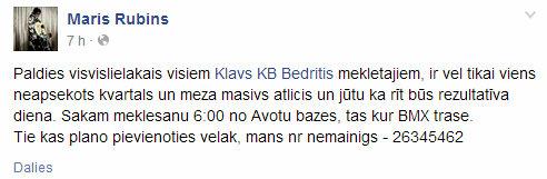 Maris Rubins - Paldies visvislielakais visiem Klavs KB Bedritis... - Google Chrome 16.05.2014. 92635